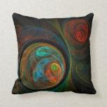 Almohada de tiro azul del arte abstracto del renac