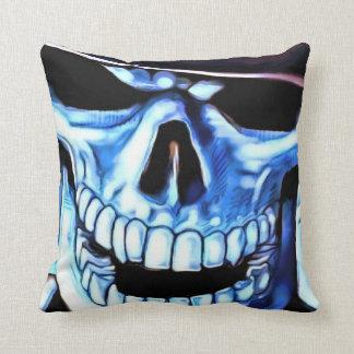 Almohada de tiro azul del cráneo