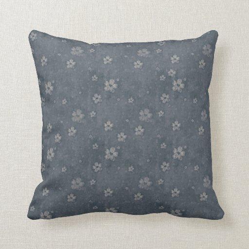 Almohada de tiro azul del estampado de plores del cojín decorativo