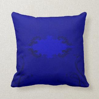 Almohada de tiro - azul del terciopelo