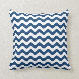Almohada de tiro azul - modelo de onda