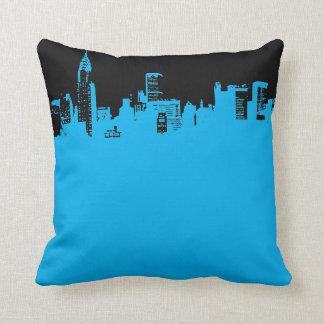 Almohada de tiro azul negra de New York City del