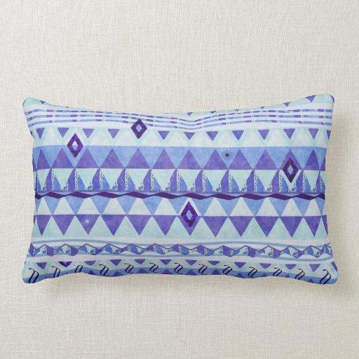 Almohada de tiro azul y púrpura del modelo de la g