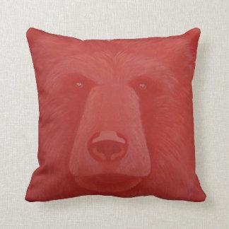 Almohada de tiro bermellona del oso cojín decorativo