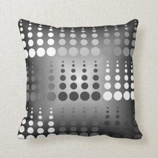 Almohada de tiro blanca y gris negra del modelo de