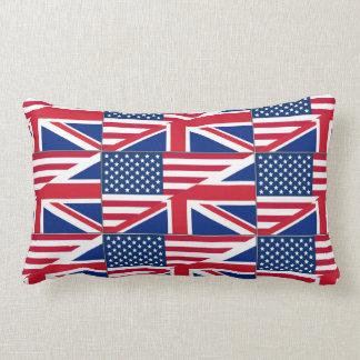 Almohada de tiro británica americana de la bandera