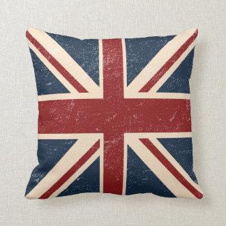 Almohada de tiro británica apenada de la bandera