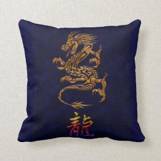 Almohada de tiro china del diseño del dragón