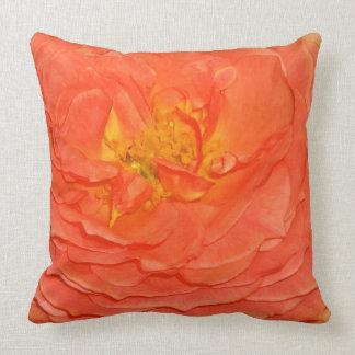 Almohada de tiro color de rosa anaranjada cojín decorativo