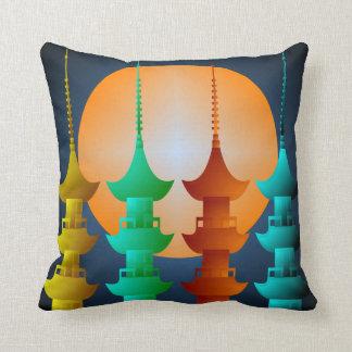 Almohada de tiro colorida de la pagoda