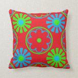 Almohada de tiro colorida del diseño de la margari