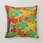Almohada de tiro   colorida del diseño de los pesc