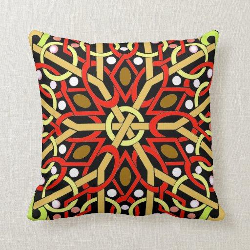 Almohada de tiro colorida del diseño del arte del