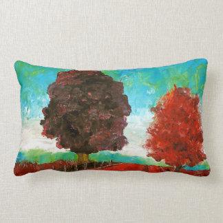 Almohada de tiro colorida del paisaje de las