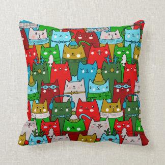 Almohada de tiro colorida fresca divertida de los cojín decorativo