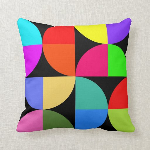 Almohada de tiro colorida intrépida y brillante