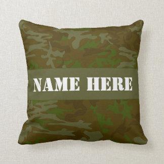 Almohada de tiro conocida de encargo verde de cojín decorativo