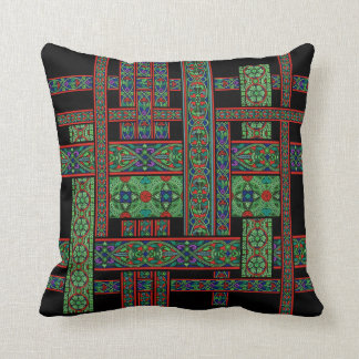 Almohada de tiro crepuscular esmeralda del vitral