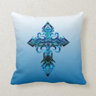 Almohada de tiro cruzada medieval azul