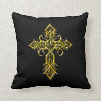 Almohada de tiro cruzada medieval de oro
