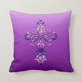 Almohada de tiro cruzada medieval púrpura