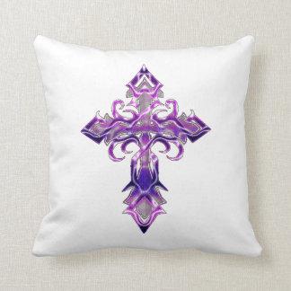 Almohada de tiro cruzada medieval púrpura II