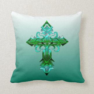Almohada de tiro cruzada medieval verde