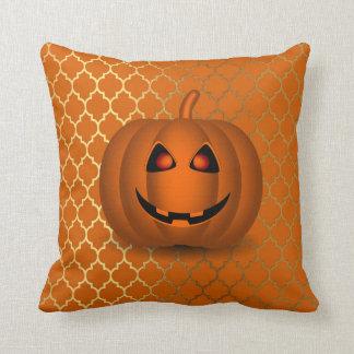 Almohada de tiro cuadrada brillante del naranja y cojín decorativo