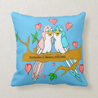 Almohada de tiro cuadrada del Lovebird