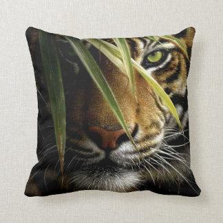 Almohada de tiro cuadrada del tigre