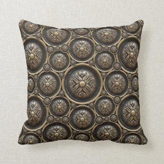 Almohada de tiro de bronce antigua del modelo