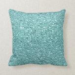 Almohada de tiro de cristal de la turquesa