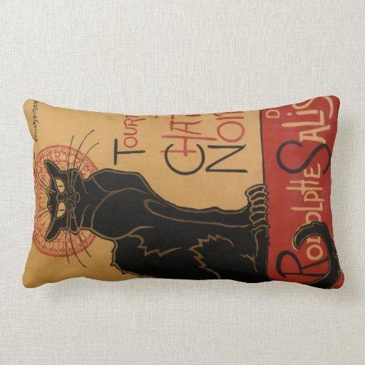 Almohada de tiro de doble cara de Le Chat Noir