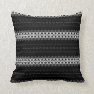 Almohada de tiro de encaje blanco y negro de las