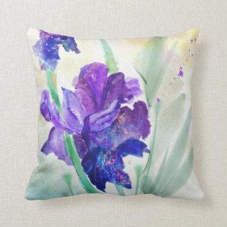 Almohada de tiro de encargo de la acuarela púrpura cojín decorativo