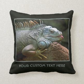 Almohada de tiro de encargo de la iguana