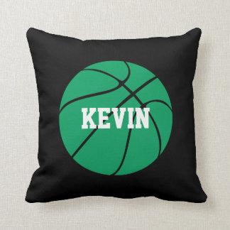 Almohada de tiro de encargo del baloncesto verde y