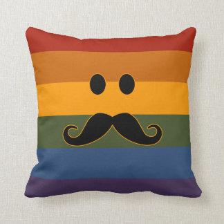 Almohada de tiro de encargo del orgullo del bigote