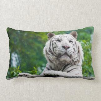 Almohada de tiro de encargo del tigre blanco
