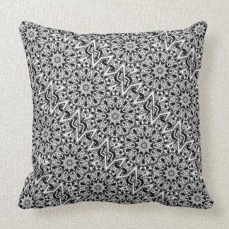 Almohada de tiro de hadas blanco y negro del calei