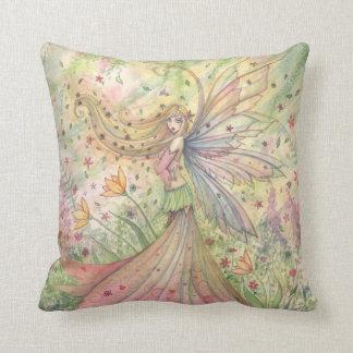 Almohada de tiro de hadas de la flor bonita del ja