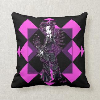 Almohada de tiro de hadas de la flor rosada gótica