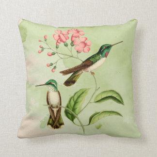 Almohada de tiro de la acuarela del colibrí de la cojín decorativo