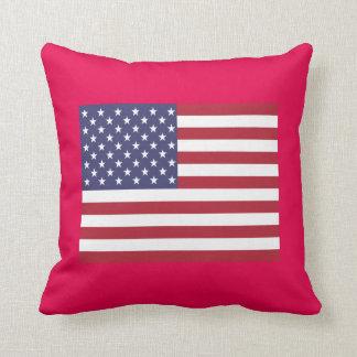 Almohada de tiro de la bandera americana