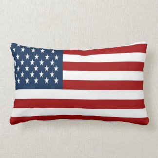 Almohada de tiro de la bandera americana (50