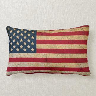 Almohada de tiro de la bandera americana del