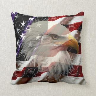 Almohada de tiro de la bandera de American Eagle