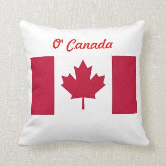 Almohada de tiro de la bandera de O Canadá