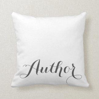 Almohada de tiro de la caligrafía del autor cojín decorativo