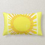 Almohada de tiro de la chispa de la sol